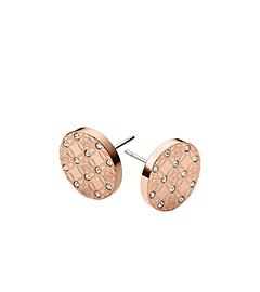 Pavé Logo Rose-Gold Earrings by Michael Kors