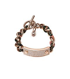 Pavé and Tortoise Acetate Bracelet by Michael Kors