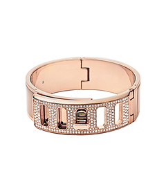 Rose Gold-Tone and Acetate Turnlock Bangle by Michael Kors