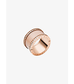 Pavé Rose Gold-Tone and Acetate Ring by Michael Kors