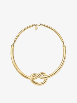 Gold-Tone Knot Necklace by Michael Kors