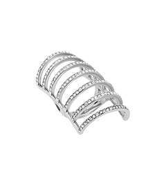Pavé Silver-Tone Cage Ring by Michael Kors