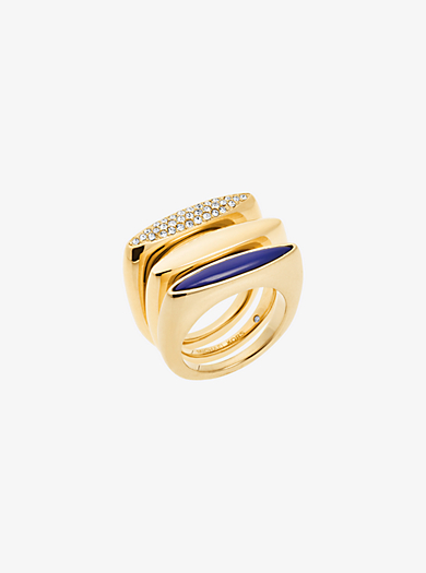 Gold-Tone Stacking Rings by Michael Kors