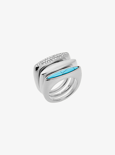 Silver-Tone Stacking Rings by Michael Kors