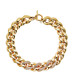 Pavé Gold-Tone Chunky Chain Necklace by Michael Kors