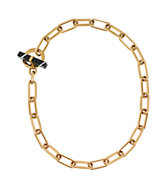 Gold-Tone Black Agate Toggle Chain Necklace by Michael Kors