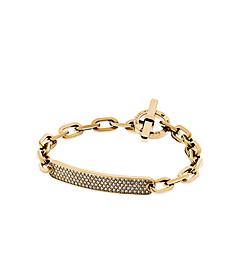 Pavé Gold-Tone ID Bracelet by Michael Kors