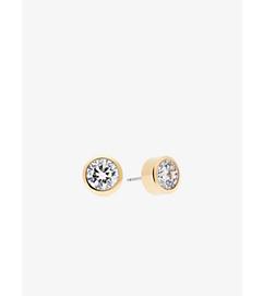 Cubic Zirconia Gold-Tone Stud Earrings by Michael Kors