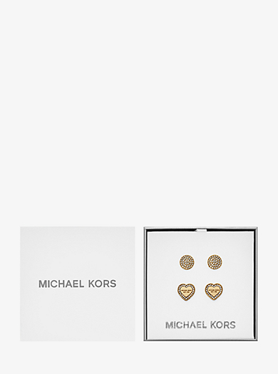 Gold-Tone Stud Earrings Set  by Michael Kors
