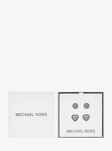 Silver-Tone Stud Earrings Set  by Michael Kors