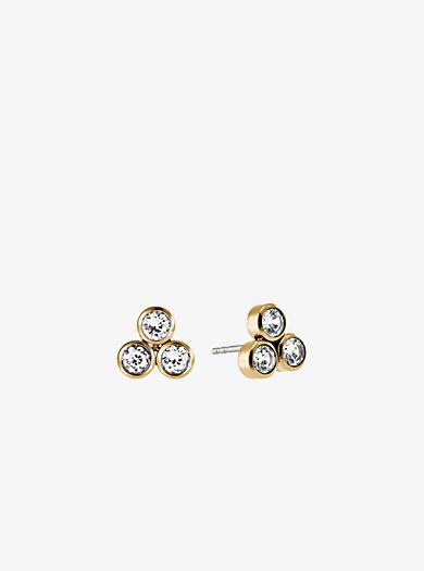 Crystal Gold-Tone Cluster Earrings  by Michael Kors
