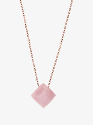 Rose Gold-Tone Pyramid Pendant Necklace by Michael Kors