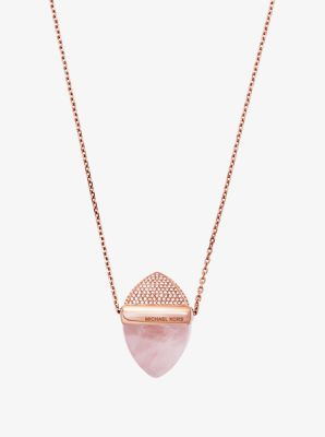 Rose Gold-Tone Pyramid Necklace by Michael Kors
