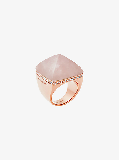 Rose Gold-Tone Pyramid Ring by Michael Kors
