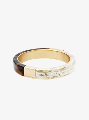 Gold-Tone Color-Block Hinge Bracelet by Michael Kors