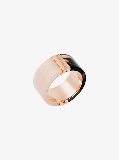 Rose Gold-Tone Color-Block Ring  by Michael Kors