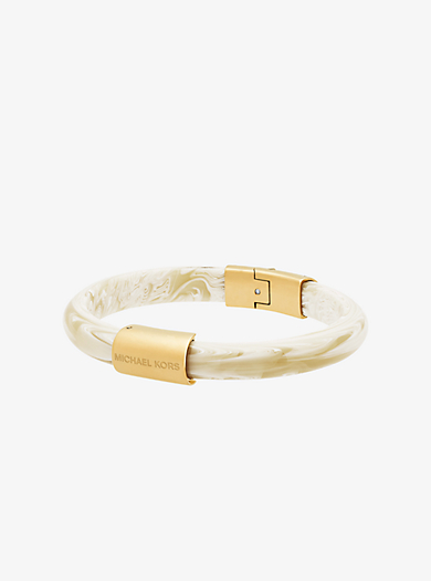 Gold-Tone Alabaster Acetate Bracelet  by Michael Kors