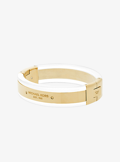 Gold-Tone and Clear Acetate Bracelet  by Michael Kors