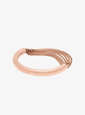 Rose Gold-Tone Draped-Chain Bracelet by Michael Kors