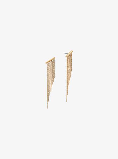 Orecchini tonalità oro con catena e frange by Michael Kors