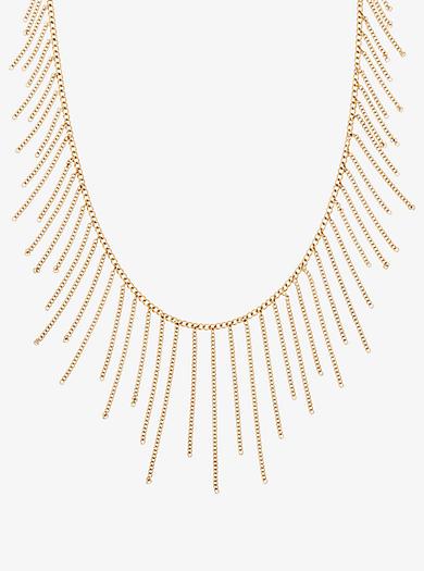Statement-Halskette im Goldton mit Kettendetail by Michael Kors