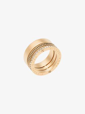 Gold-Tone Twist Ring by Michael Kors