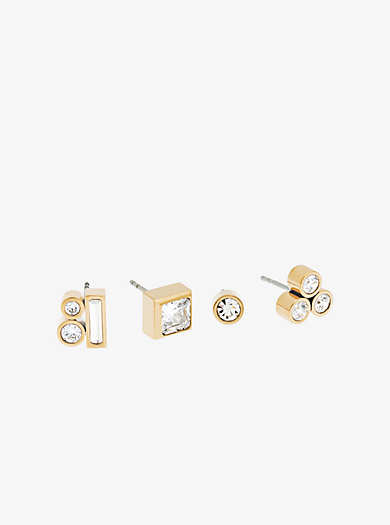 Mix-and-Match-Ohrstecker im Goldton by Michael Kors