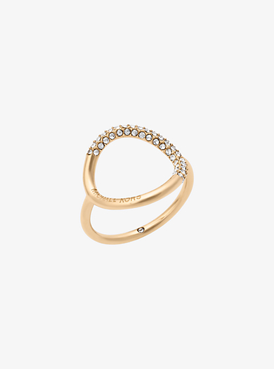 Ring im Goldton mit Pavé-Fassung by Michael Kors