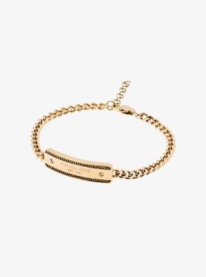 Gold-Tone Plaque Chain Bracelet by Michael Kors