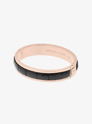 Rose Gold-Tone Faceted Bracelet by Michael Kors