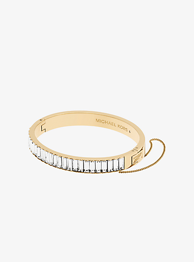 Armband im Goldton mit Baguette-Fassung by Michael Kors