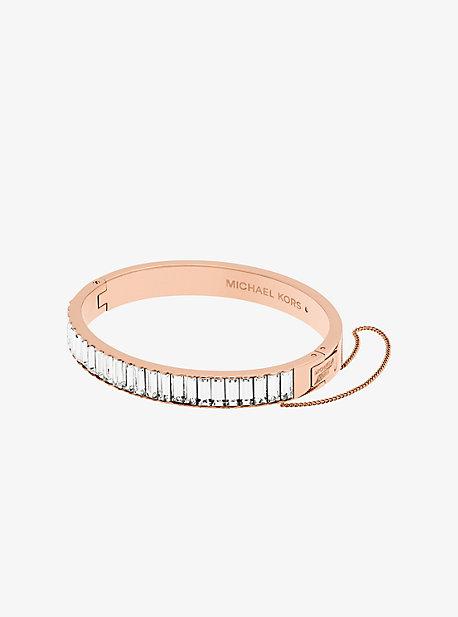 Rose Gold-Tone Baguette Bracelet