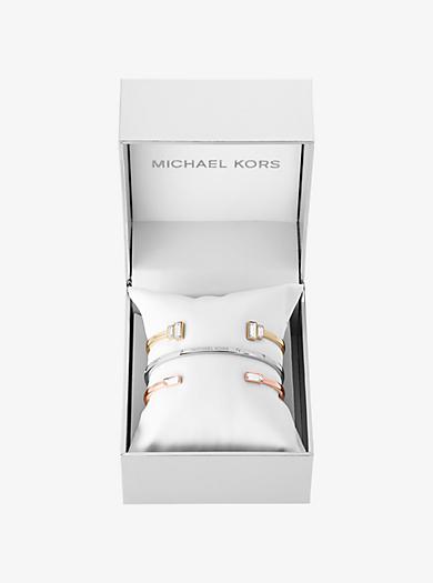 Tri-Tone Baguette Cuff Set by Michael Kors