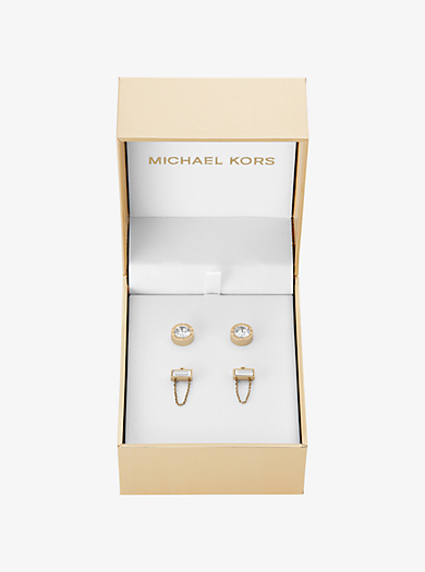 Gold-Tone Chain Stud Earrings Set by Michael Kors