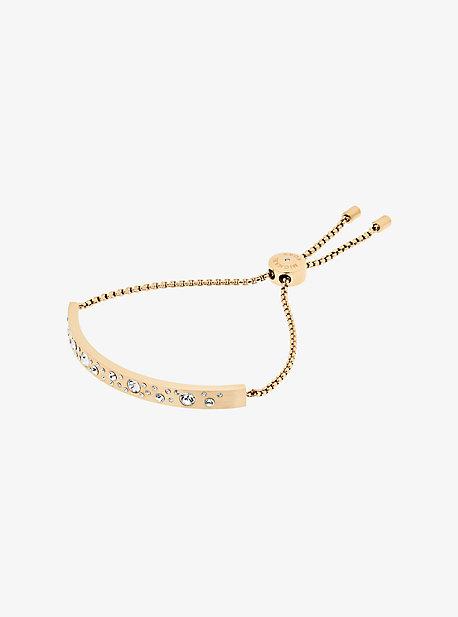Gold-Tone Scatter Pave Slider Bracelet