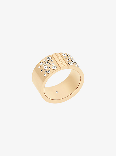 Gold-Tone Scatter Pavé Ring by Michael Kors
