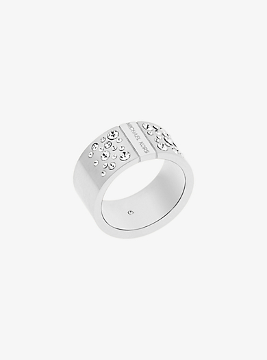 Silver-Tone Scatter Pavé Ring by Michael Kors