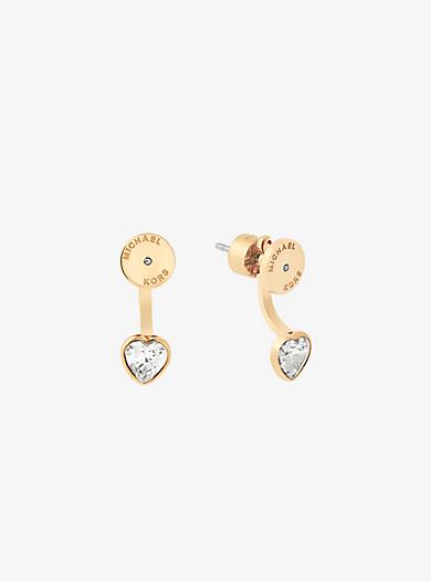 Orecchini pendenti tonalità oro con cuore by Michael Kors