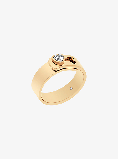 Gold-Tone Heart Ring by Michael Kors