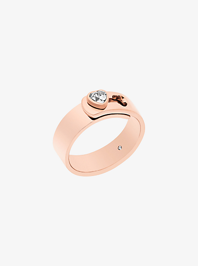 Ring im Rosé-Goldton mit Herz by Michael Kors