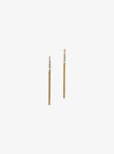 Orecchini baguette tonalità oro con nappine by Michael Kors