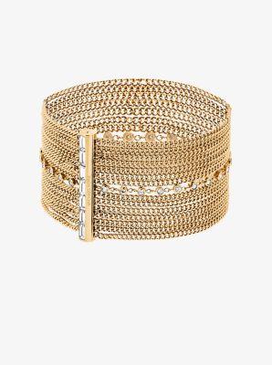 Gold-Tone Multi-Chain Baguette Bracelet by Michael Kors