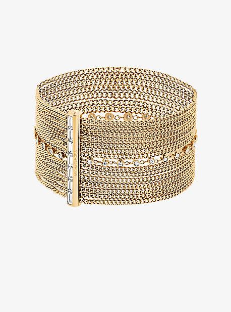 Gold-Tone Multi-Chain Baguette Bracelet