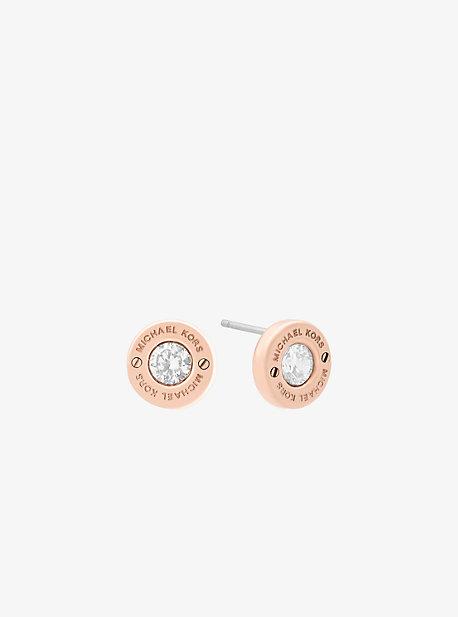 Rose Gold-Tone Stud Earrings