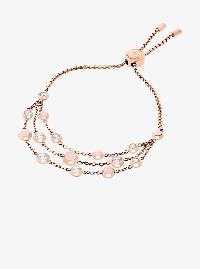Mehrreihiges Armband im Rosé-Goldton by Michael Kors