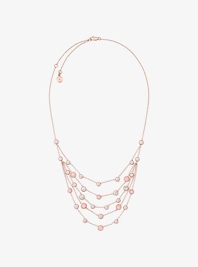 Collana multifilo tonalità oro rosa by Michael Kors