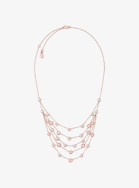 Rose Gold-Tone Multi-Strand Necklace