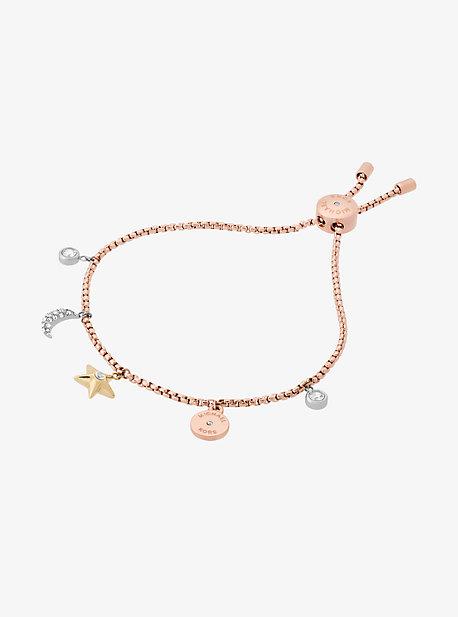 Rose Gold-Tone Celestial Charm Bracelet