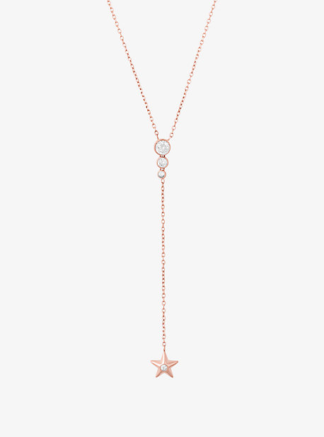 Rose Gold-Tone Celestial Pendant Necklace