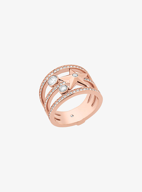 Rose Gold-Tone Celestial Ring